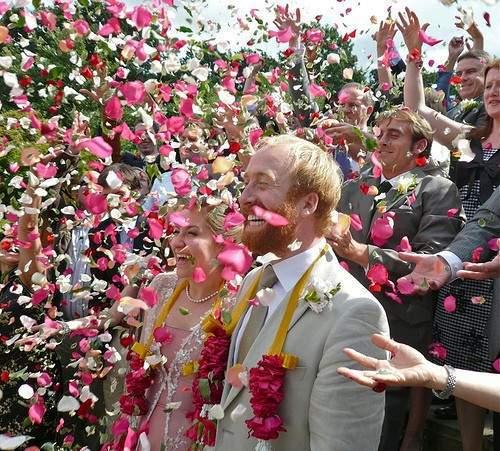 Rosy fusillo wedding